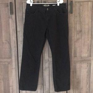 Seven7 36 x 32 black straight jeans